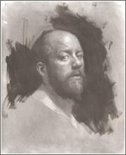 Darren Kingsley self-portait painting