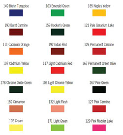 Amazing color mixing chart for floral art