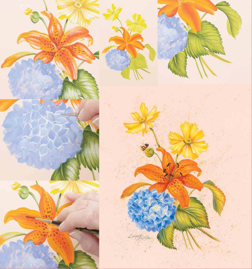 You have to see this step by step demo of how to paint flowers in acrylic.