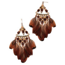 This earring project was made with feathers shed from backyard chickens!