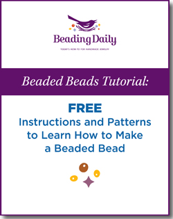 Learn how to make beaded beads with this fantastic free tutorial!