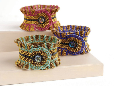 Don't miss out on learning how to create a brick stitch bracelet with this how to make a cuff bracelet pattern from Beading Daily.