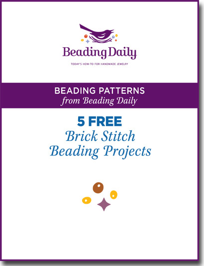 You have to try these 5, FREE brick stitch patterns from Beading Daily.