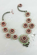 crystal necklace pattern with resin jewelry elements