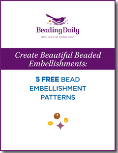 Free guide and patterns for beaded embellisment and beaded trim