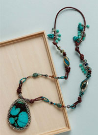 Gemstone Necklaces: Turquoise Collage
