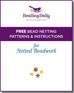 Free guide and patterns for netted beadwork