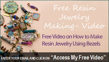 Free video on handcrafted jewelry using mixed media and resin jewelry techniques!