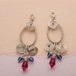 Wire Jewelry Making Project #3: Nicole Earrings