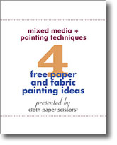 4 Free Paper and Fabric Painting Ideas