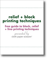 Free Guide to Block, Relief and Lino Printing Techniques