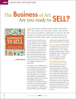 Sell Your Artwork Article: The Business of Art