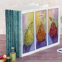 Accordion-folded Binding Art Journals by Gina Kim Lee