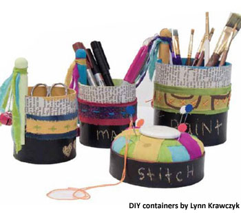 Organize Your Art Studio & Supplies with Things You Already Have!