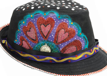 Wearable Art Hat Article #4: Flora Fedora by Kathy Cano-Murillo aka The Crafty Chica