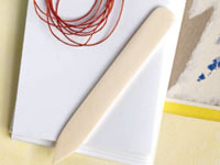 Book making supplies: Bone Folder, image from Pages 2012 issue.