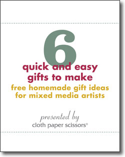 Download your free homemade gift ideas for mixed-media artists today!