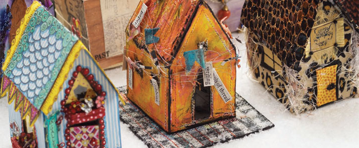 house fabric art projects  Craft Daily: A Free Weekend!