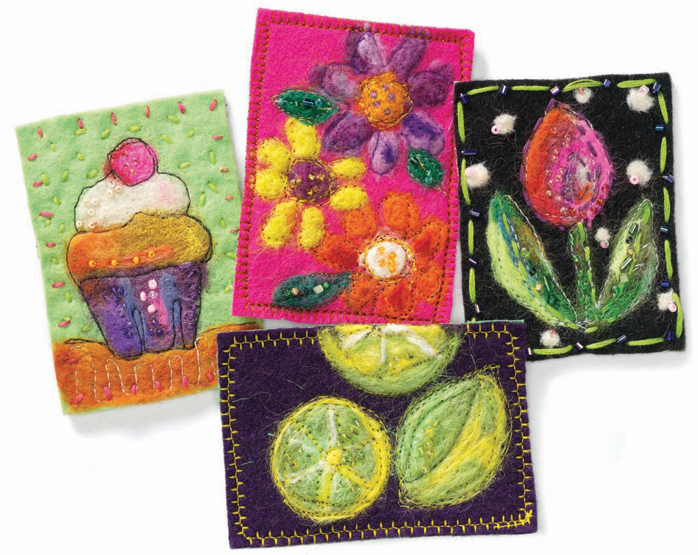 Learn how to create ATCs and your own fun fiber art!