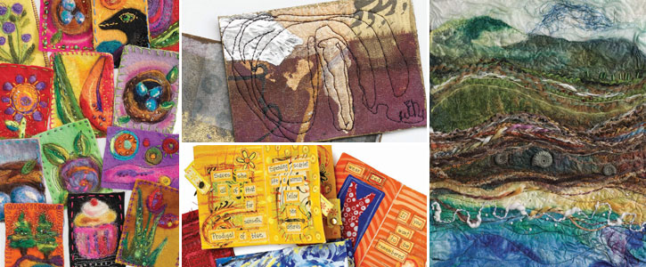 Get each of these featured fabric and fiber art projects when you download this free eBook.