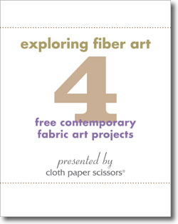 Don't forget to get this free collection to start exploring fiber art ideas.