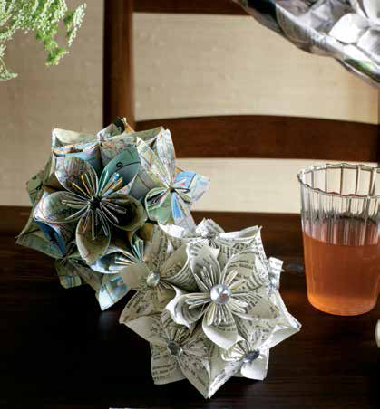Learn how to make paper flowers
