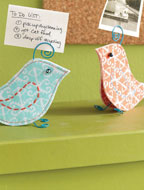 Fabric Bird Pattern: Tweet Note + Photo Holder eProject