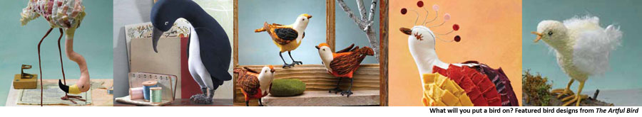Put a Bird on It with a Fabric Bird Pattern from The Artful Bird Book