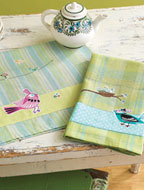 Decorative Birds: Bird Collage Tea Towels eProject