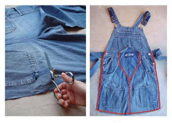 Get tips on reusing garments for upcycling crafts.