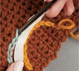 Slip-Stitch Crochet Embroidery