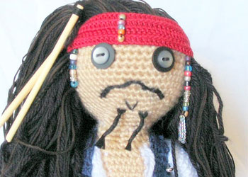 Free Amigurumi Tutorial #2: Dread Pirate Sam amigurumi pattern