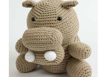 Free Amigurumi Tutorial #8: Hugo the Not So Hungry Hippo amigurumi pattern