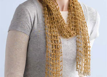 Gilded Mesh Scarf by Mags Kandis