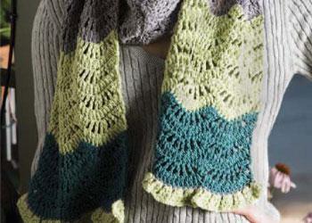 Beginning Crochet Scarf: Wool Bam Boo Scarf