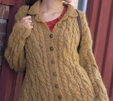 Cables in all your favorite colors, create one with this cable cardigan pattern.