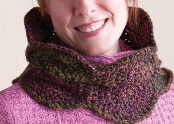 Crochet Cowl Pattern: Fossil Neckwarmer by Kathy Merrick