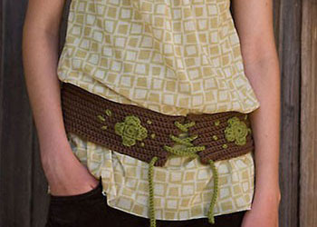 Free Crochet Belt Pattern: Wide Boho Belt by Christina Marie Potter