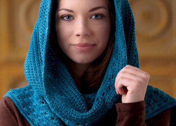 Free Crochet Hooded Scarf Pattern: Hooded Scarf by Sedruola Maruska