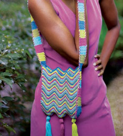 Crochet Shoulder Bag Pattern: Chevron Shoulder Bag