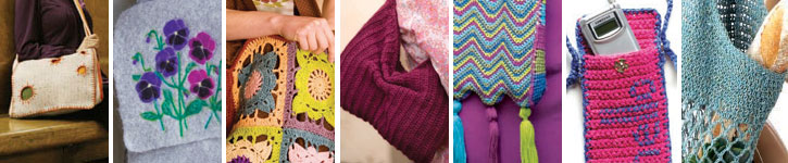 Discover an incredible variety of crochet bags with this free eBook.