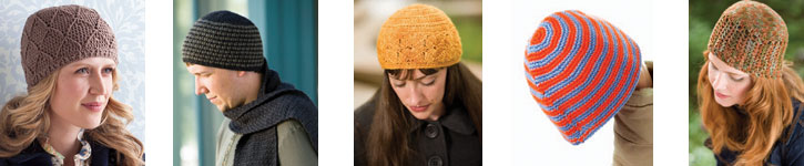 Discover all five patterns for crochet beanies in this free collection.