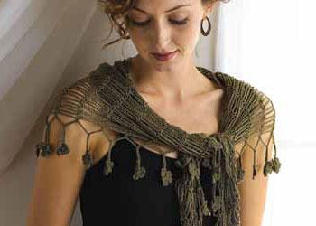 Flower Crochet Edges: Sprout Chains Shawlette