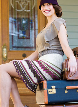 Create crochet borders on skirts, shawls and more with this free eBook.