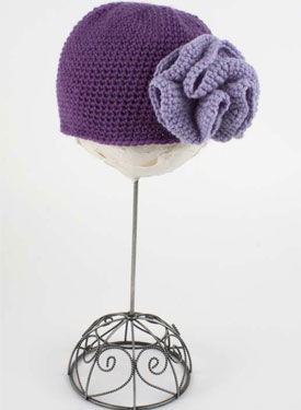 Make this hat and crochet flower.