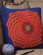 How to Crochet Flowers on Pillows: Flower Power Pillow