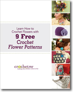 Learn how to crochet flowers with the patterns in this free eBook.