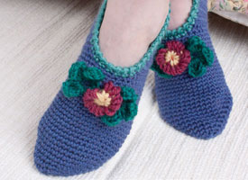 Crochet for Charity Patterns: Comfort Slippers