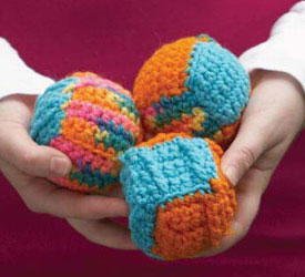 Crochet Ball Pattern: In a Jiffy Juggling Balls