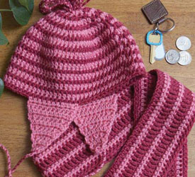 Quick Crochet Gifts, Hat and Scarf Patterns: Peppermint Hat and Scarf